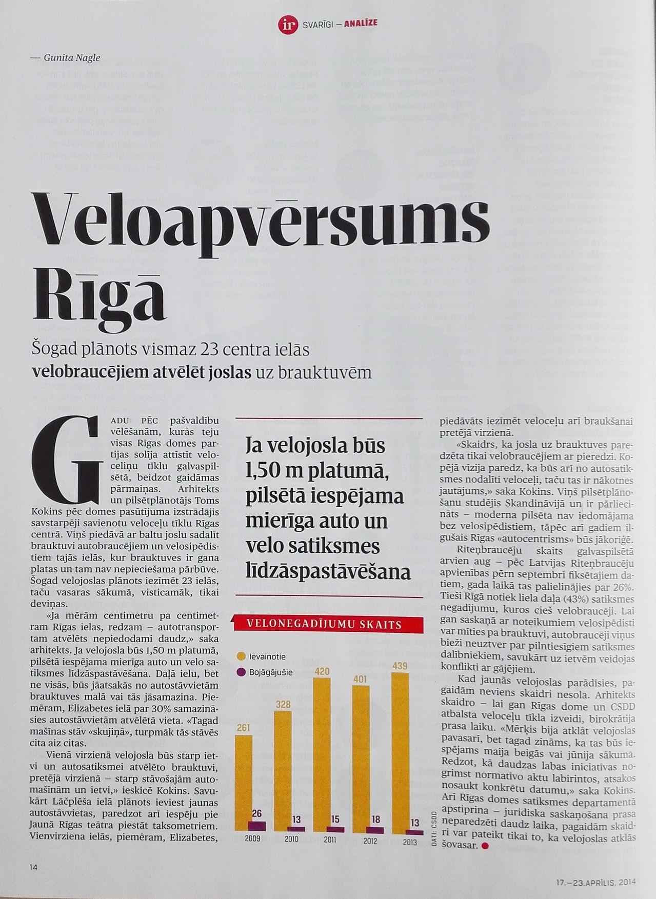 """Raksts no žurnāls """"IR"""" 2014. gada 17.-23. aprīļa numura"""